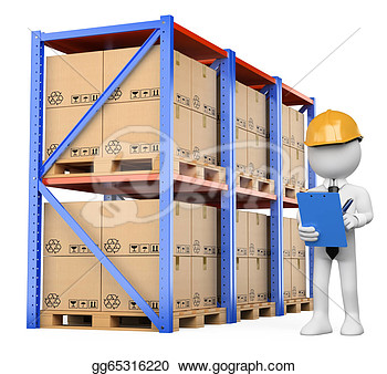 White People  Warehouse Manager  Clipart Drawing Gg65316220   Gograph