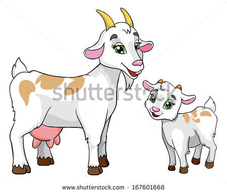 Cartoon Goat Clip Art Free Vector   4vector