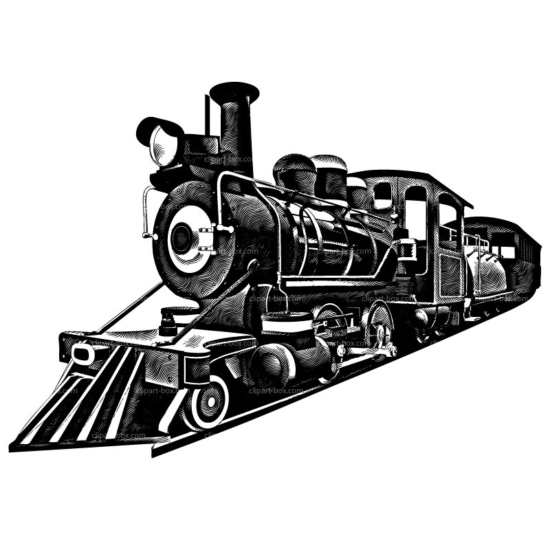 Clipart Railroad Train   Royalty Free Vector Design