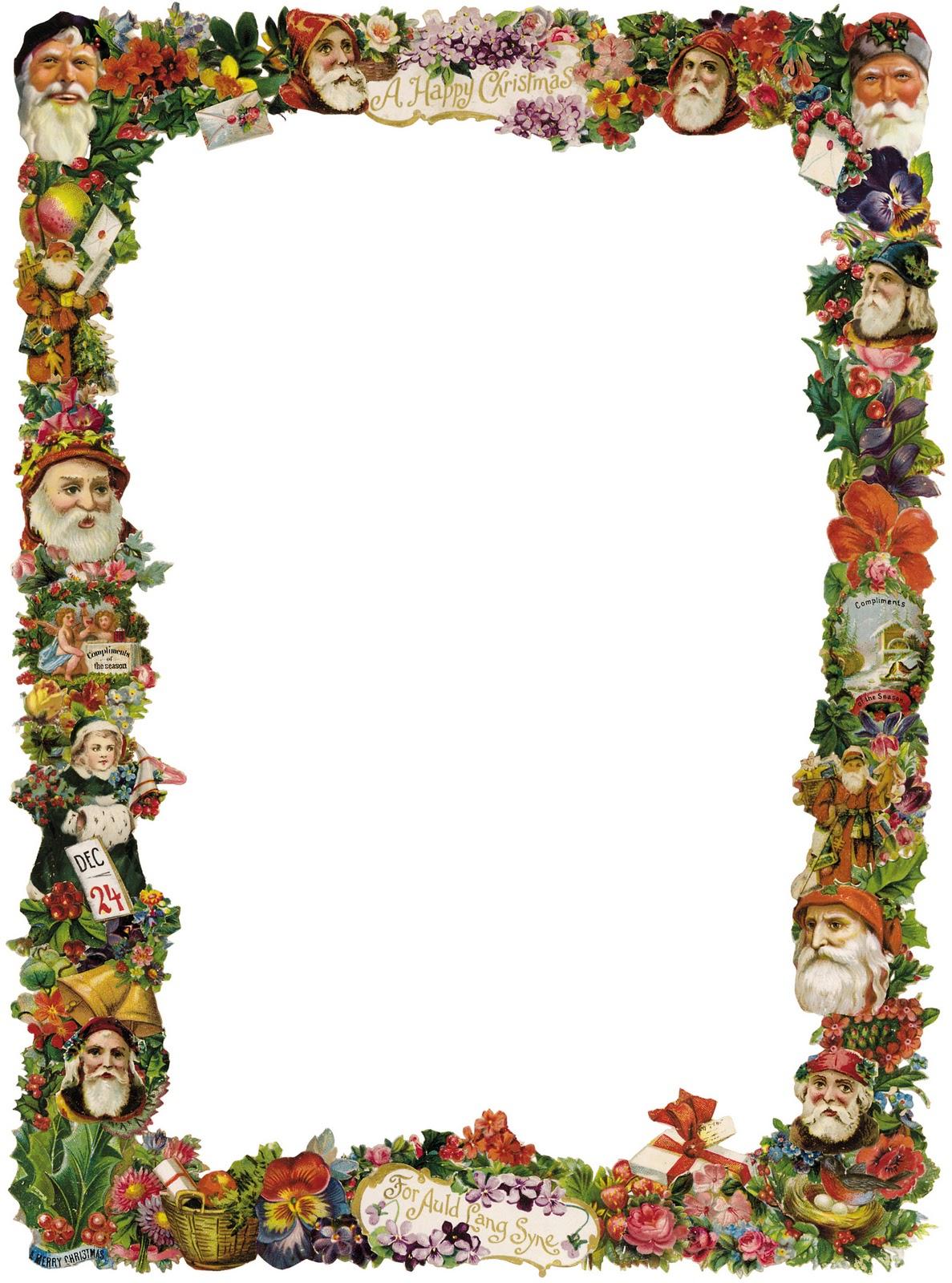 free vintage christmas border clip art - photo #13