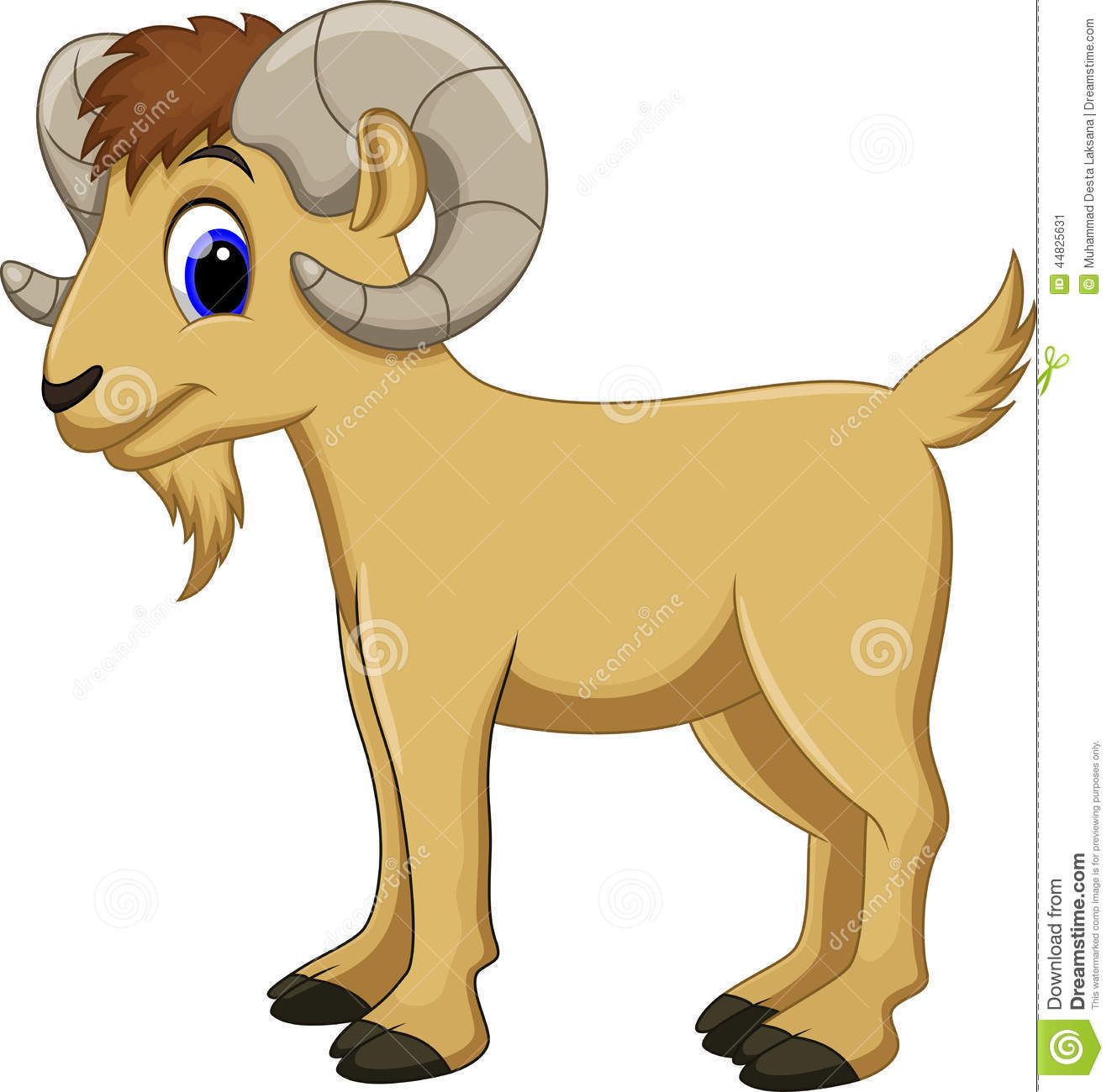 Cute Goat Cartoon Stock Illustration   Image  44825631