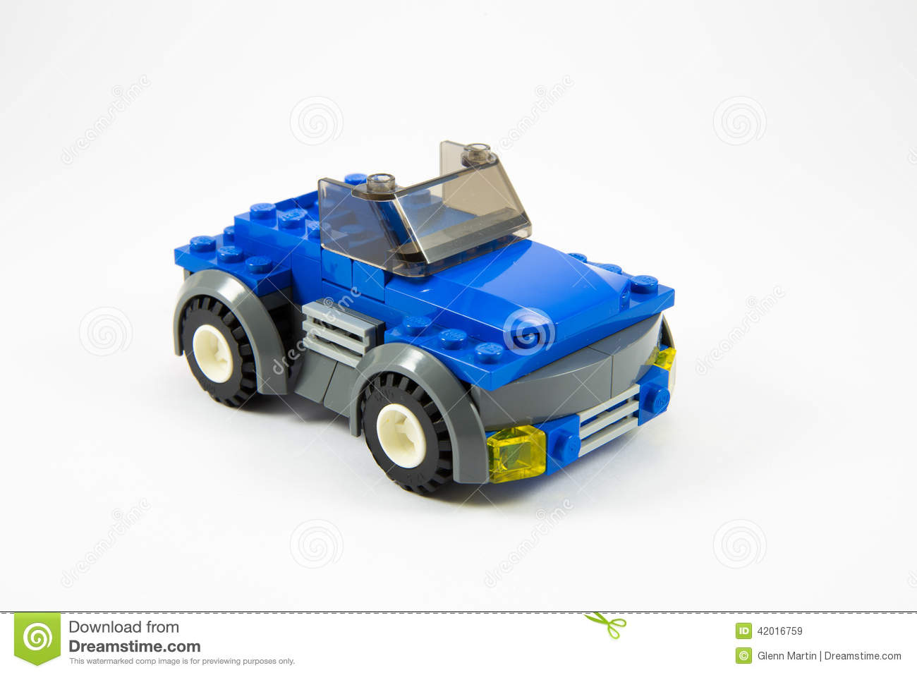 Editorial Stock Image  Blue Lego Car