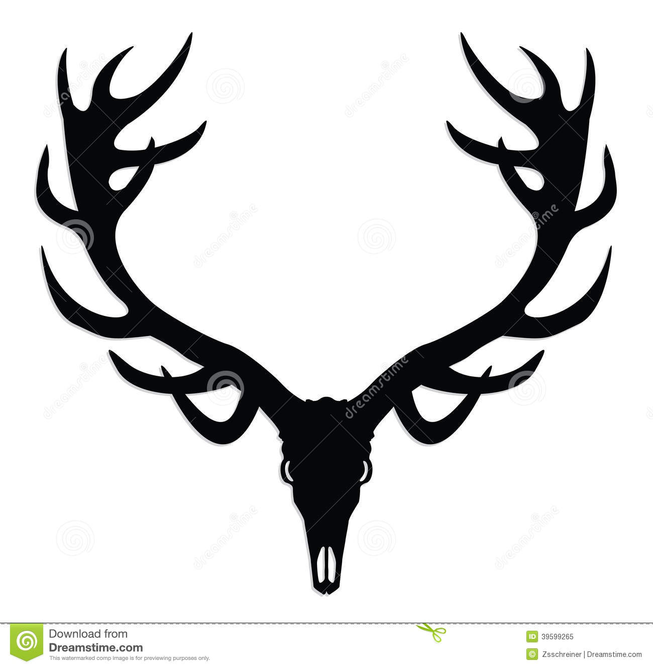 Elk Skull Clipart - Clipart Suggest