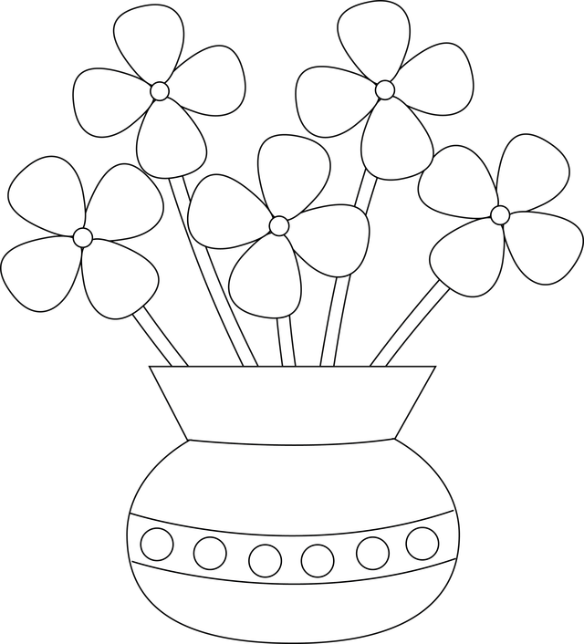 Drawing Of A Flower Vase – Flower Image Idea – Just another Flower ...