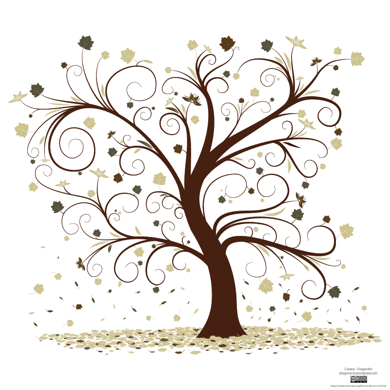 Free Vector Curly Tree Design