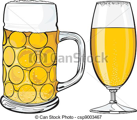Golden Light Draft Beer To Quench    Csp9003467   Search Clipart