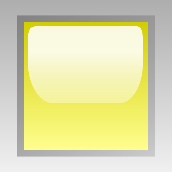 Led Square Yellow Clip Art Vector