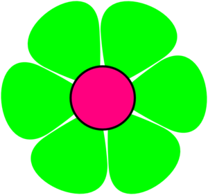 Green Flower Clipart