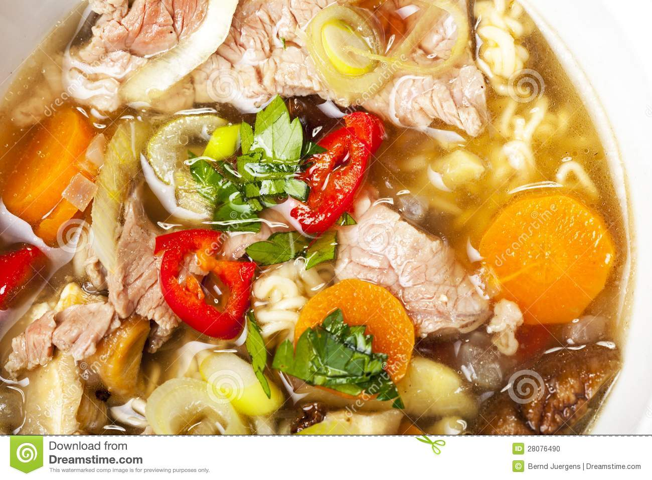 Pho Soup Stock Photo   Image  28076490