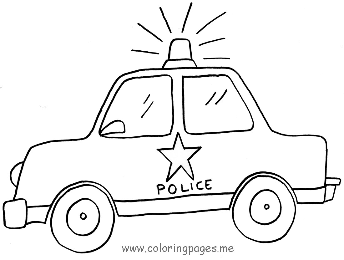 Police Car Coloring Pages Printable Printable Police Car Coloring