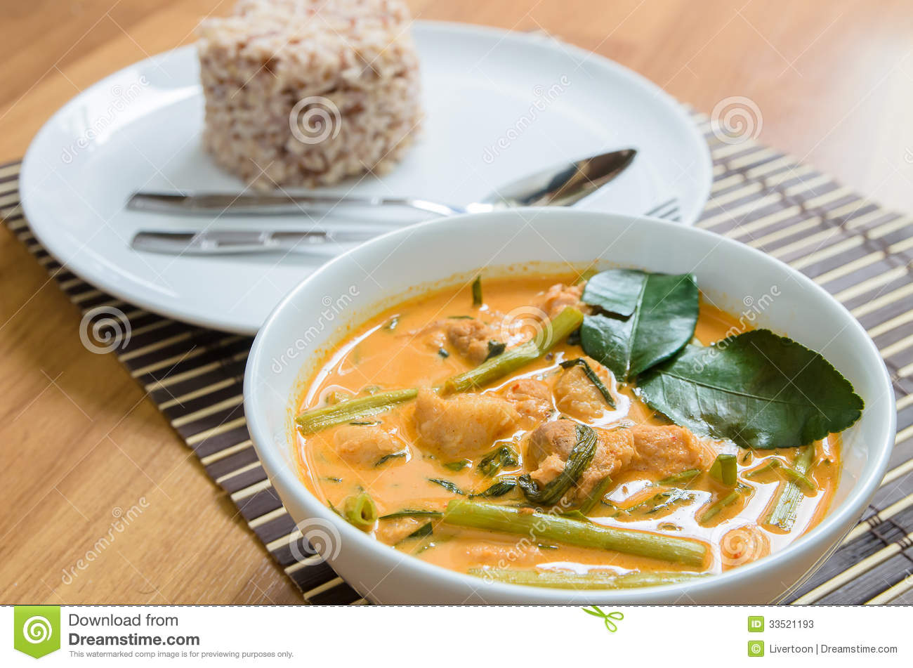 Pork Curry With Water Spinach Stock Photos   Image  33521193