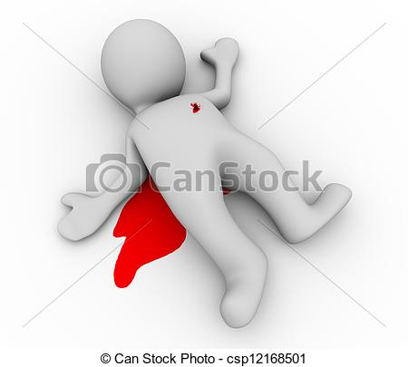 Stock Illustration   3d Dead Person   Stock Illustration Royalty Free