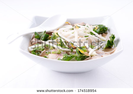 Stock Photo Vietnamese Pho Soup An Ethnic Meal Of Chicken Soup Broth