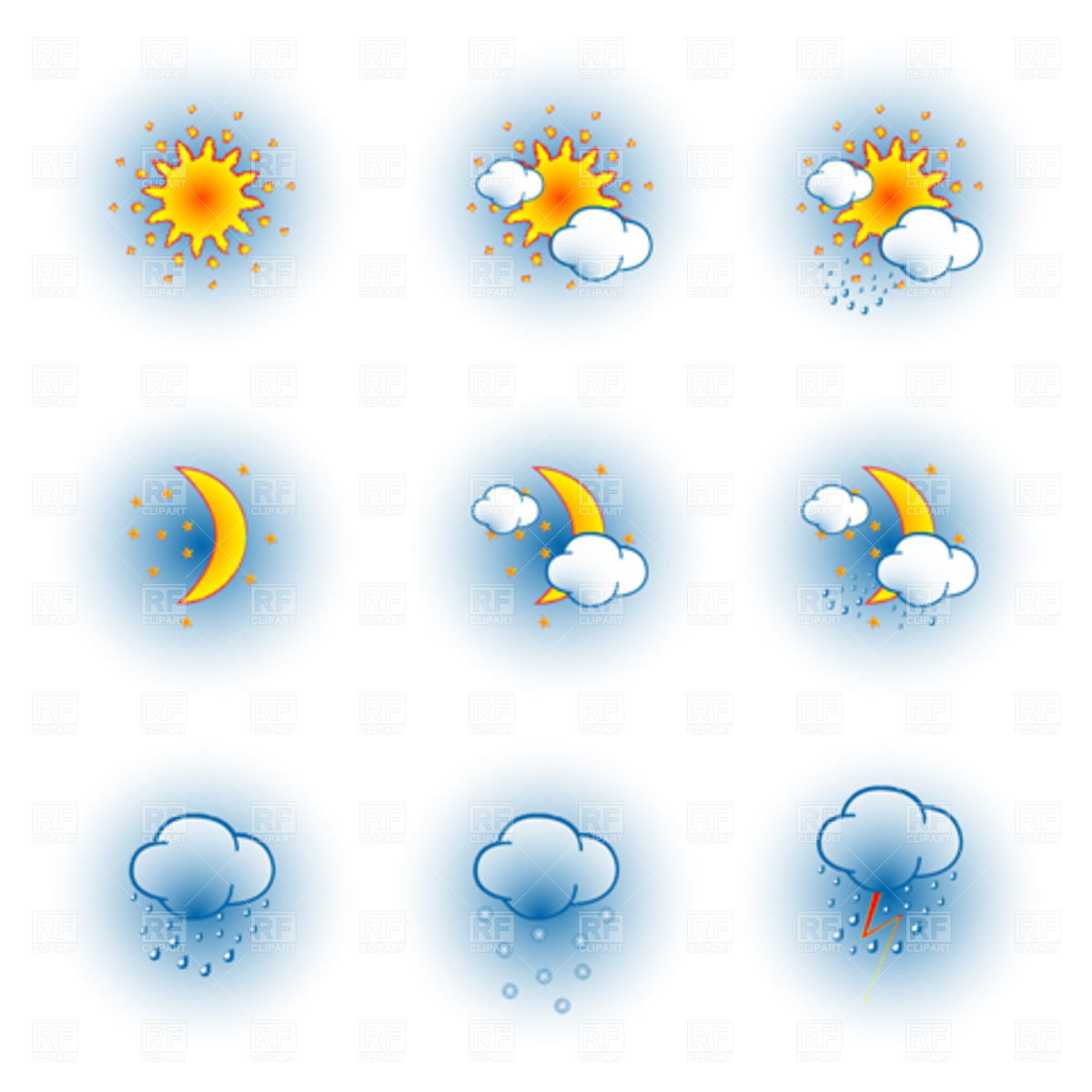 Weather Icons 4410 Download Royalty Free Vector Clipart  Eps