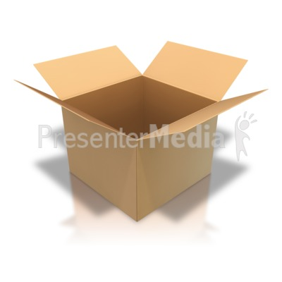 Brown Cardboard Box Open Angle   Home And Lifestyle   Great Clipart