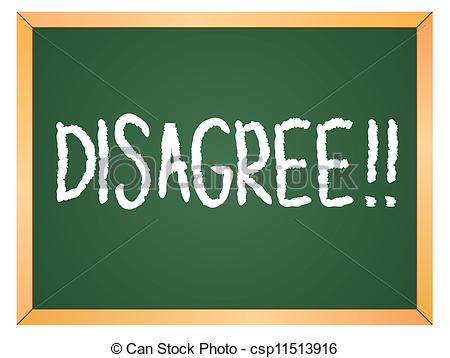 Clip Art Of Disagree Word On Chalkboard Csp11513916   Search Clipart