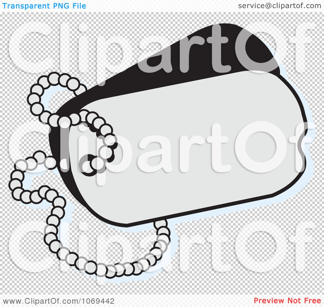 Clipart Blank Dog Tag   Royalty Free Vector Illustration By Johnny