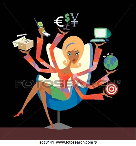 Clipart   Working Woman  Fotosearch   Search Clip Art Illustration