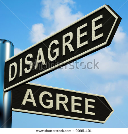 Disagree Or Agree Directions On A Metal Signpost Stock Photo 90951101