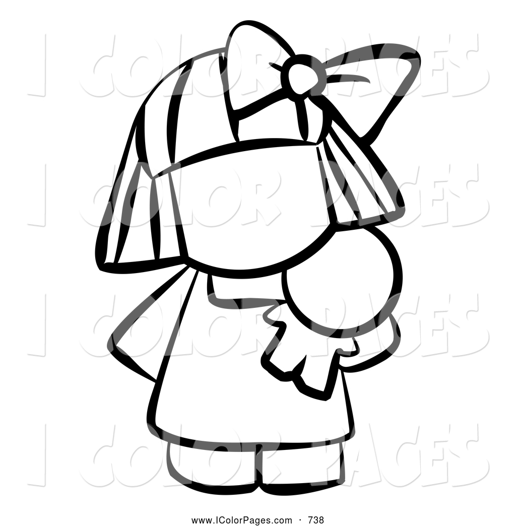 Doll Black And White Clipart - Clipart Kid