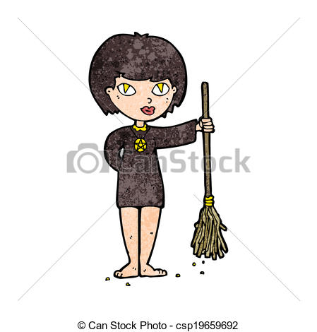 Eps Vectors Of Cartoon Pretty Witch Girl Csp19659692   Search Clip Art