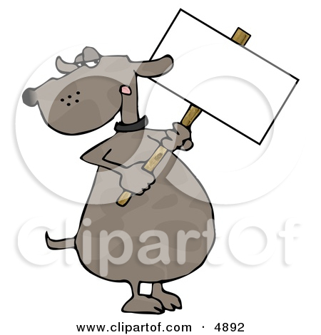 Free Retro Clipart Of Man Preparing Public Notice Sign By 000198