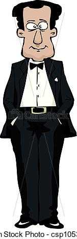 Man In A Tuxedo Vector Illustration Csp10539427   Search Clipart
