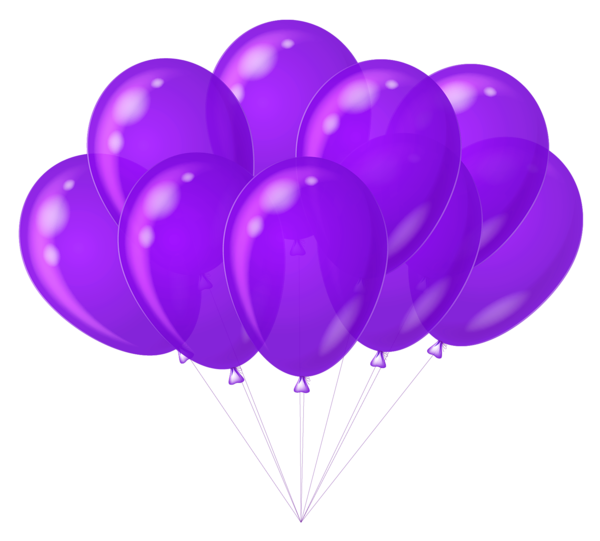 Purple Balloons Clipart - Clipart Suggest