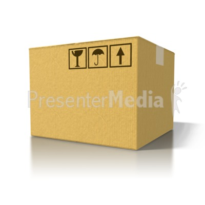 Single Cardboard Box   Signs And Symbols   Great Clipart For