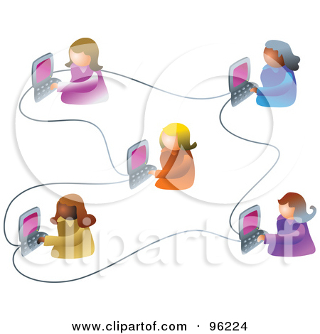 Women Working Clipart Of Five Women Working On