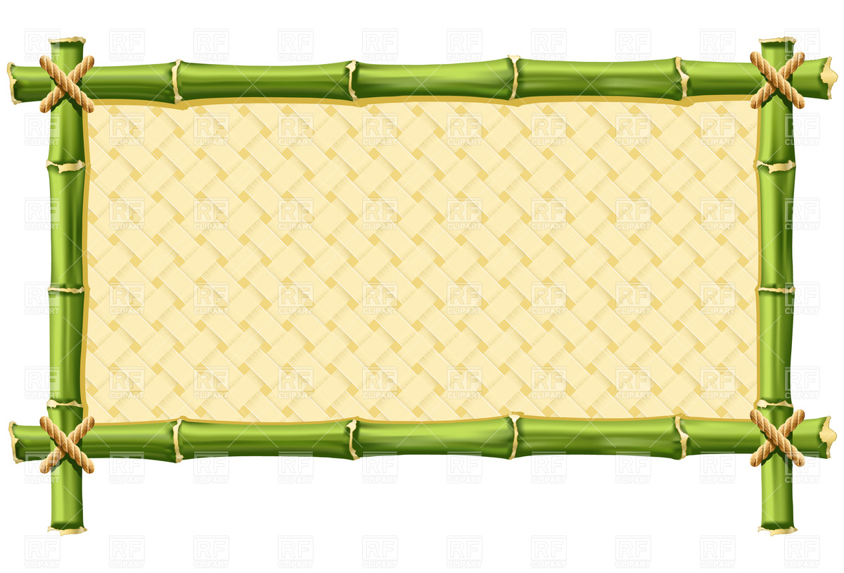 Bamboo Frame With Woven Borders And Frames Download Royalty Free