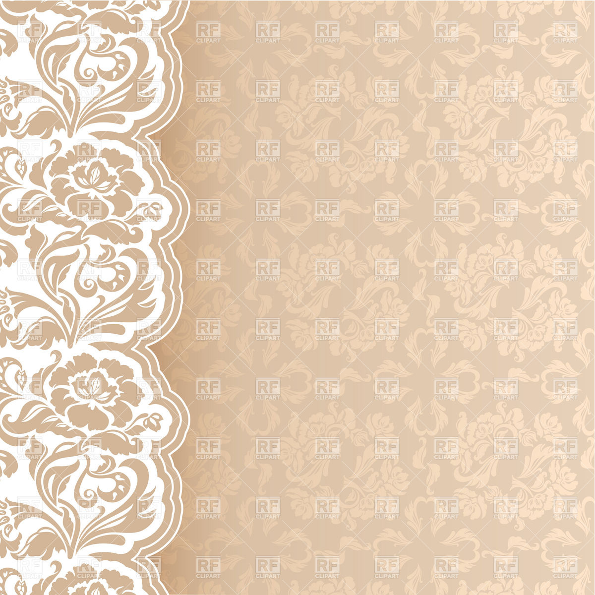 Beige Victorian Lacy Background Download Royalty Free Vector Clipart