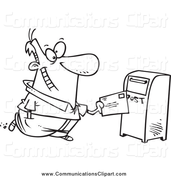 Black And White Drop Off Mailbox Royalty Free Clipart Picture Hdjpg