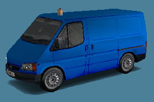 Blue Objects Ford Transit Van Blue
