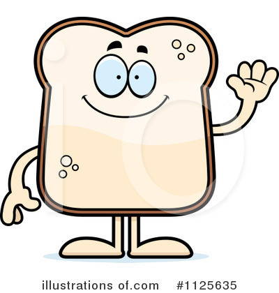 Bread Clipart  1125635 By Cory Thoman   Royalty Free  Rf  Stock