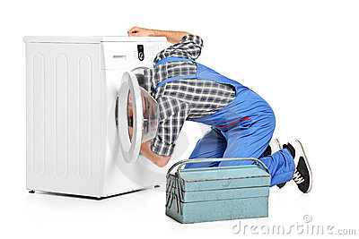 Fixing Washer Machine Clip Art