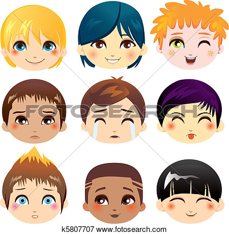 Clip Art   Facial Expression Collection  Fotosearch   Search Clipart