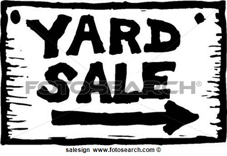 Clipart   Yard Sale Sign  Fotosearch   Search Clip Art Illustration