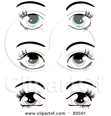 Digital Collage Of Pairs Of Blue Green And Brown Eyes Dressed Up With