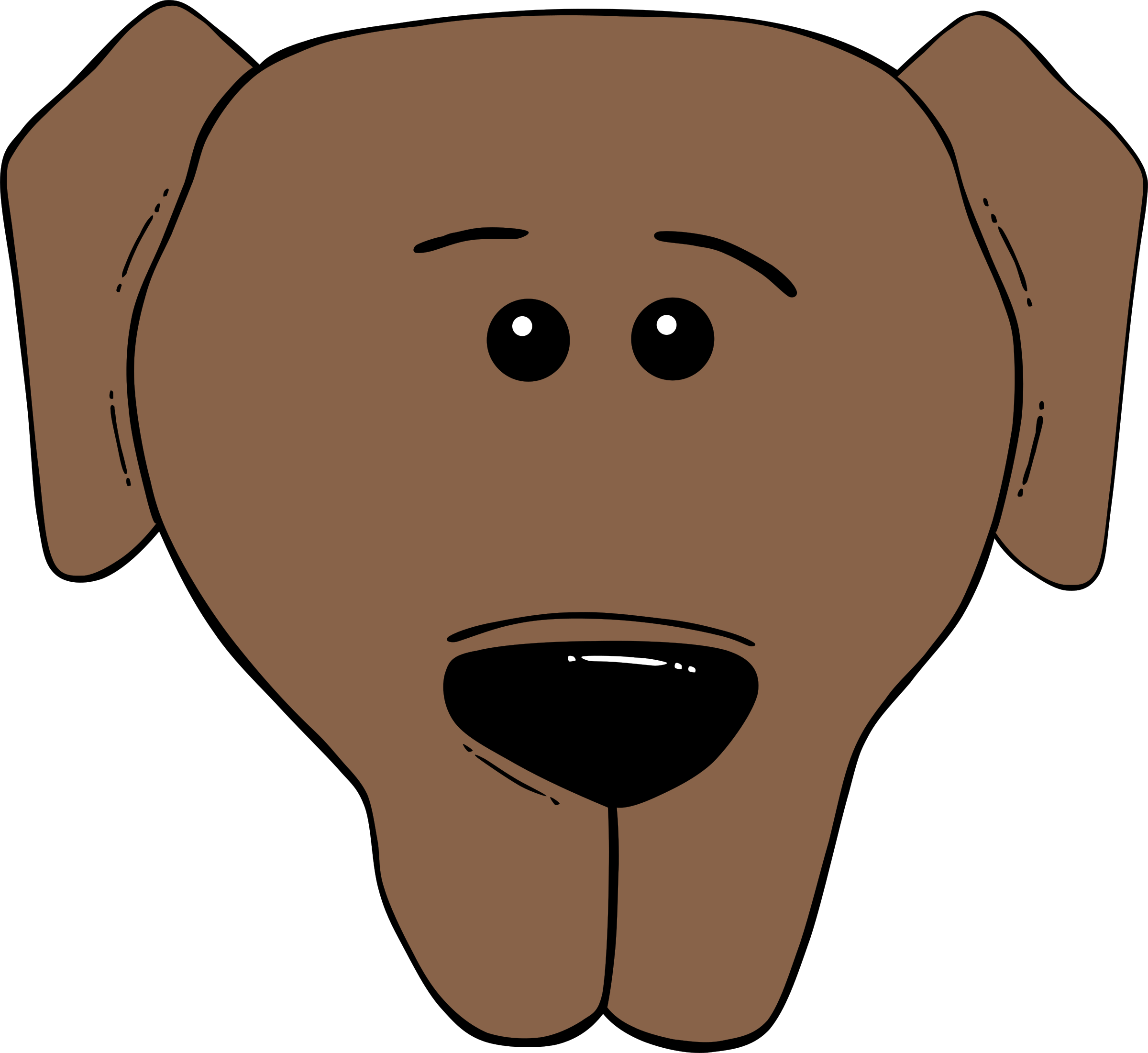 Dog Face Cartoon   World Label By Gerald G