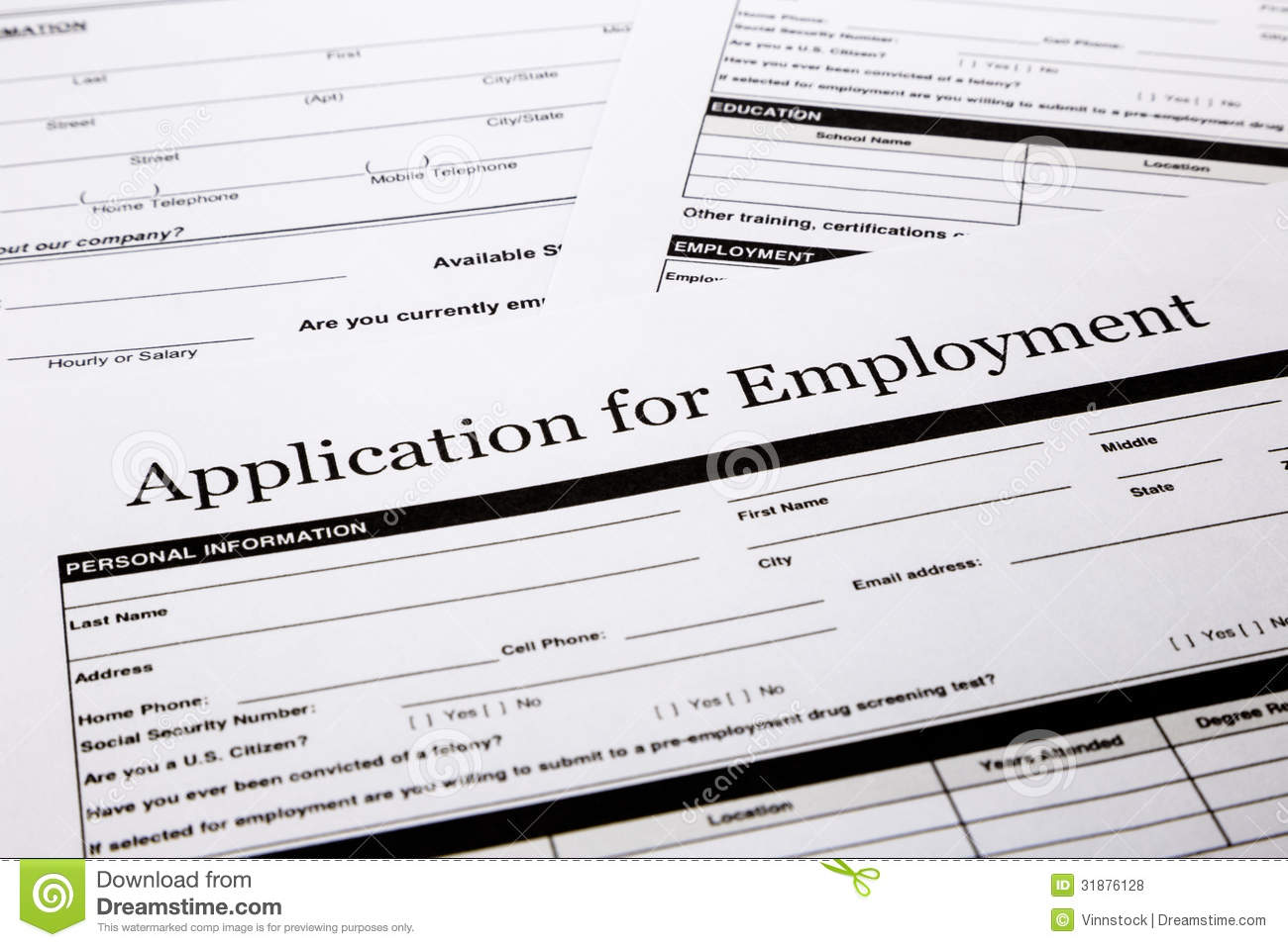 application form clipart clipart kid employment application form human resources and business concepts