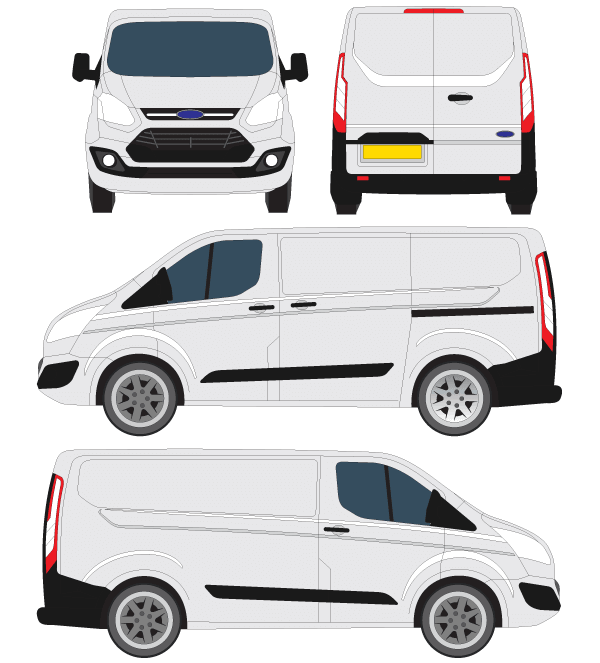 Ford Transit Courier Vector Outline   123freevectors