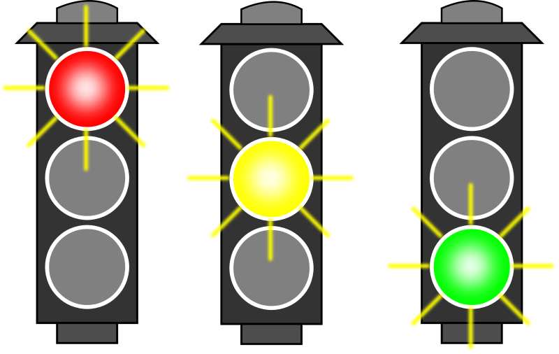 Free Set Of Three Traffic Lights Clip Art