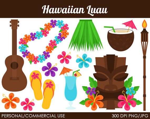 Hawaiian Luau Clipart   Digital Clip Art Graphics For Personal Or