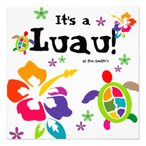 Luau Party Hibiscus Flowers Turtle Colorful 5 25x5 25 Square Paper