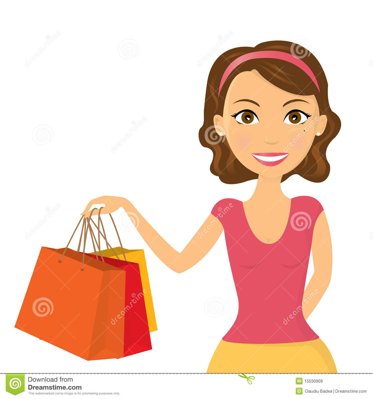 Shopping Girl Royalty Free Stock Images   Image  15030909