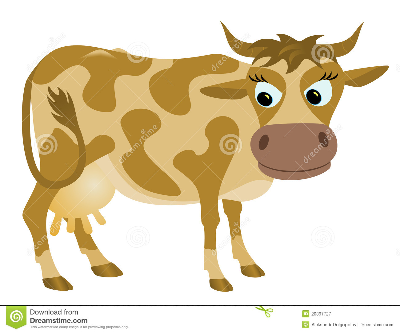 Thoughtful Cow Royalty Free Stock Photography   Image  20897727