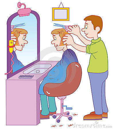 Clip Art Barber Clipart barber clipart kid vectorial illustration cutting man s hair isolated on a