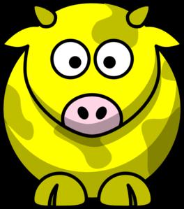 Yellow Cow 2 Clip Art At Clker Com   Vector Clip Art Online Royalty