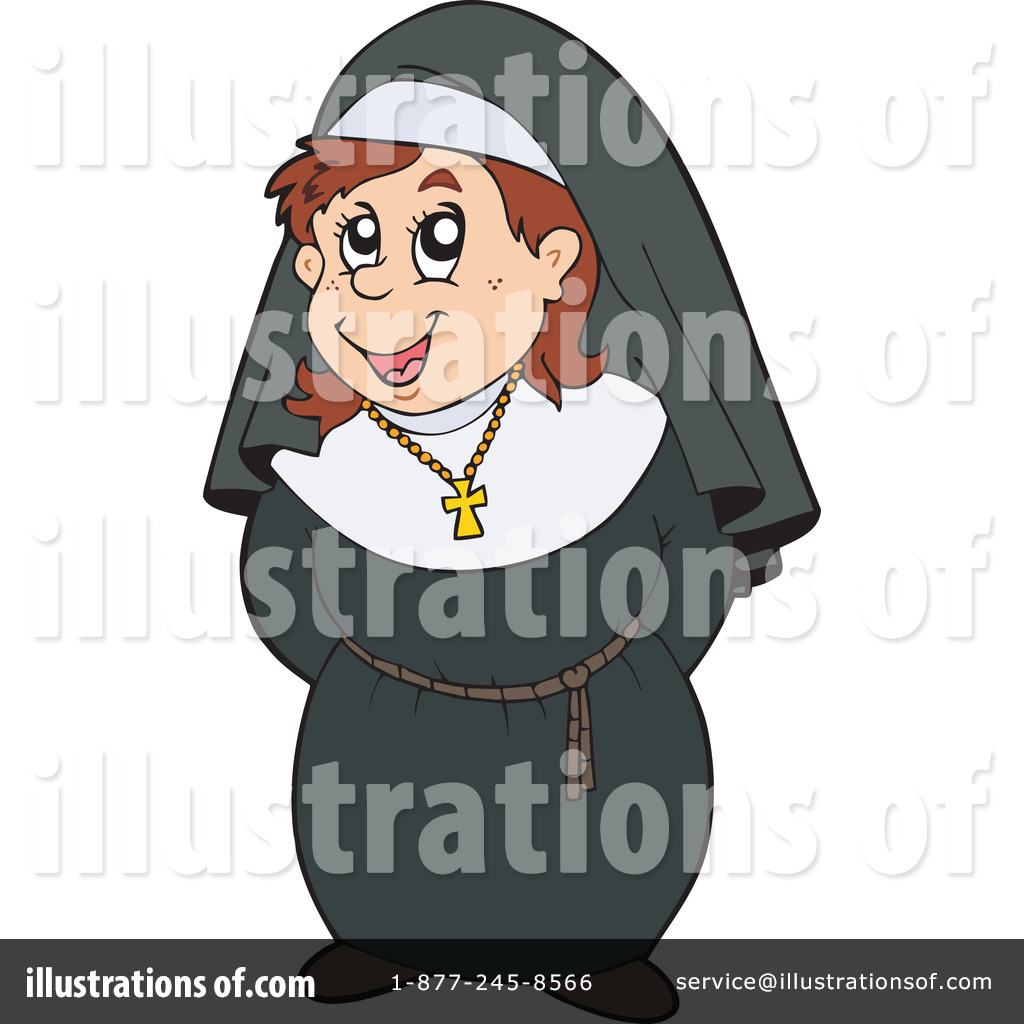 Royalty Free  Rf  Nun Clipart Illustration By Visekart Stock Sample